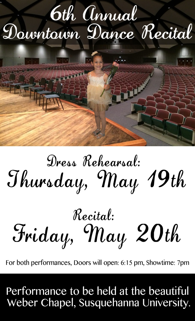 Recital poster, updated